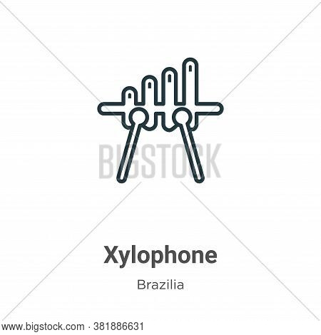 Xylophone icon isolated on white background from brazilia collection. Xylophone icon trendy and mode