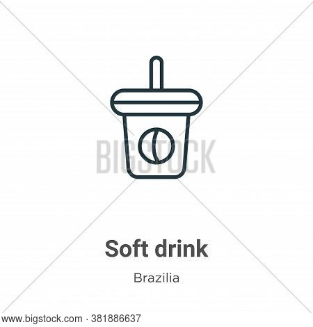 Soft drink icon isolated on white background from brazilia collection. Soft drink icon trendy and mo