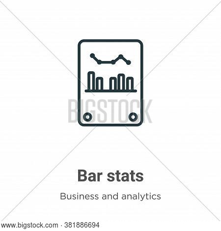 Bar Stats Icon From Business And Analytics Collection Isolated On White Background.