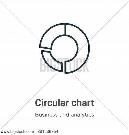 Circular chart icon isolated on white background from business and analytics collection. Circular ch