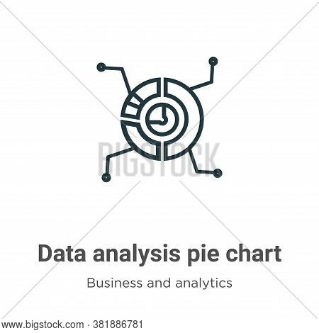 Data analysis pie chart icon isolated on white background from business and analytics collection. Da