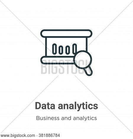 Data analytics icon isolated on white background from business and analytics collection. Data analyt