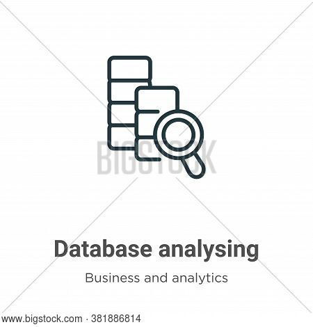 Database Analysing Icon From Business And Analytics Collection Isolated On White Background.