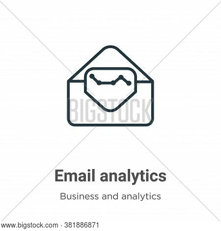 Email analytics icon isolated on white background from business and analytics collection. Email anal
