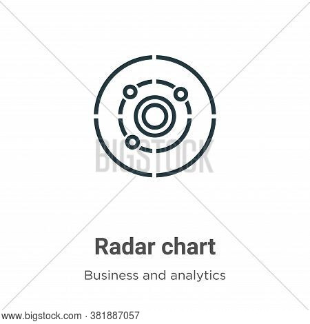Radar chart icon isolated on white background from business and analytics collection. Radar chart ic