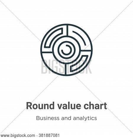 Round value chart icon isolated on white background from business and analytics collection. Round va
