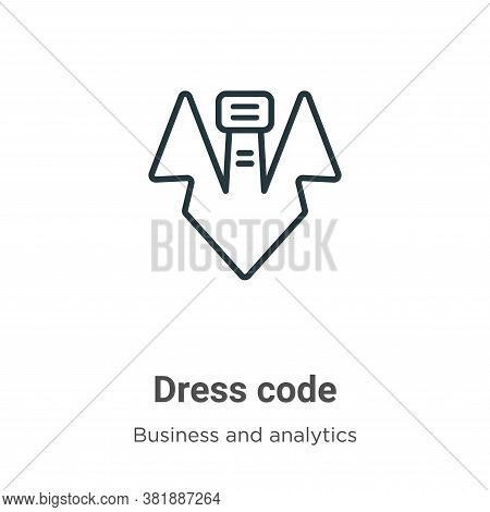 Dress code icon isolated on white background from business collection. Dress code icon trendy and mo
