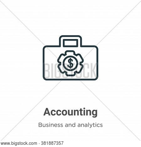 Accounting icon isolated on white background from business collection. Accounting icon trendy and mo