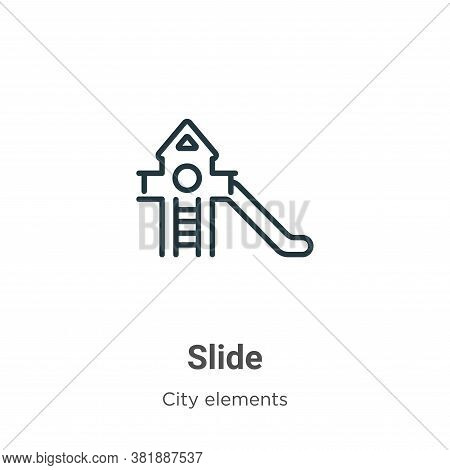 Slide icon isolated on white background from city elements collection. Slide icon trendy and modern