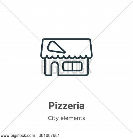 Pizzeria icon isolated on white background from city elements collection. Pizzeria icon trendy and m