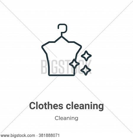 Clothes cleaning icon isolated on white background from cleaning collection. Clothes cleaning icon t