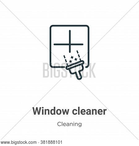 Window cleaner icon isolated on white background from cleaning collection. Window cleaner icon trend
