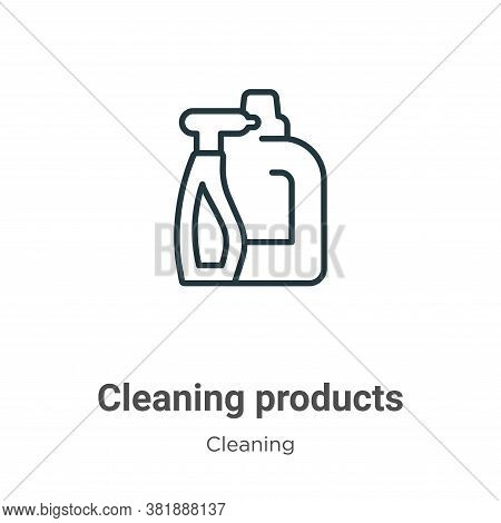 Cleaning products icon isolated on white background from cleaning collection. Cleaning products icon