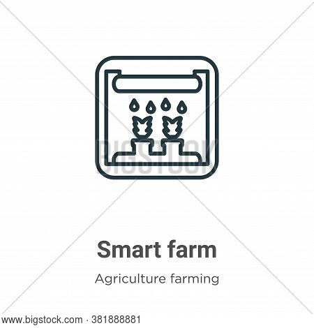 Smart farm icon isolated on white background from agriculture farming and gardening collection. Smar