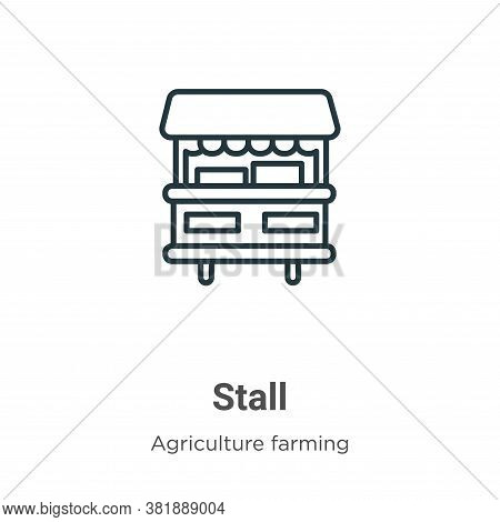 Stall icon isolated on white background from agriculture collection. Stall icon trendy and modern St