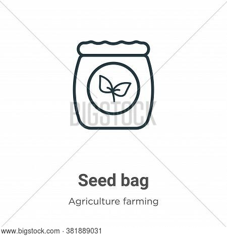 Seed bag icon isolated on white background from agriculture collection. Seed bag icon trendy and mod