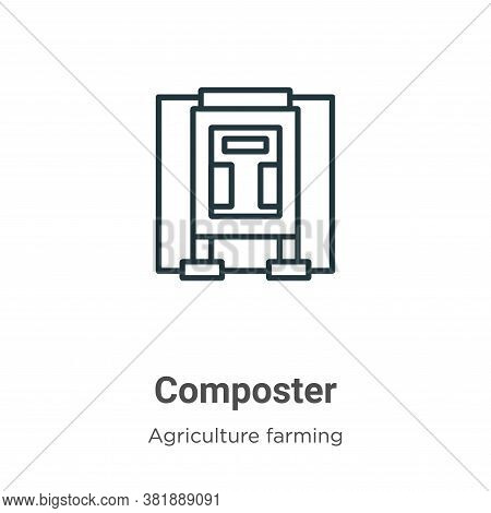 Composter icon isolated on white background from farming and gardening collection. Composter icon tr