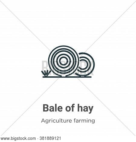 Bale of hay icon isolated on white background from farming and gardening collection. Bale of hay ico