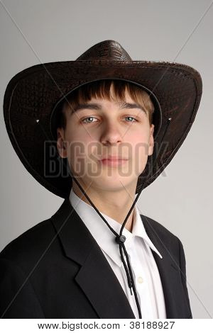 Teenager In Stetson Hat