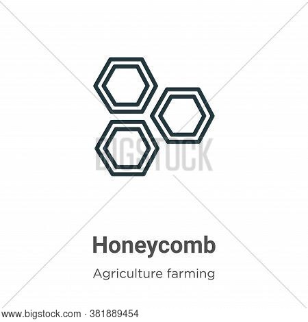Honeycomb icon isolated on white background from farming collection. Honeycomb icon trendy and moder
