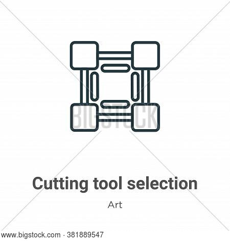 Cutting tool selection icon isolated on white background from art collection. Cutting tool selection