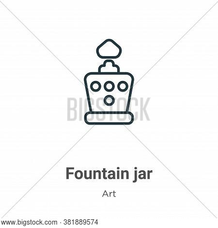 Fountain jar icon isolated on white background from art collection. Fountain jar icon trendy and mod