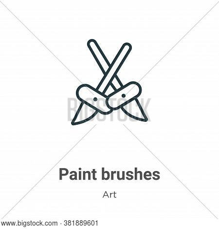 Paint brushes icon isolated on white background from art collection. Paint brushes icon trendy and m