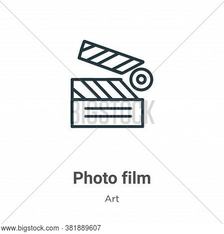 Photo film icon isolated on white background from art collection. Photo film icon trendy and modern