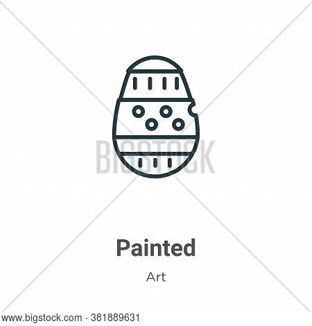 Painted icon isolated on white background from art collection. Painted icon trendy and modern Painte