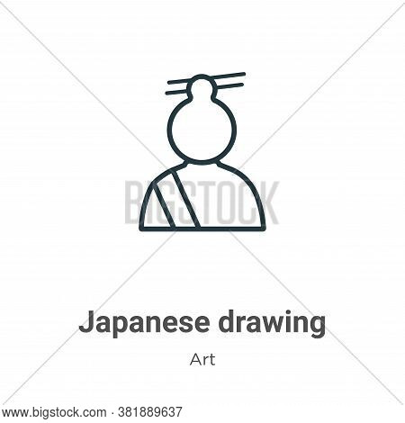 Japanese drawing icon isolated on white background from art collection. Japanese drawing icon trendy
