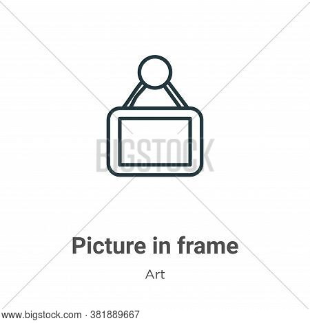 Picture in frame icon isolated on white background from art collection. Picture in frame icon trendy