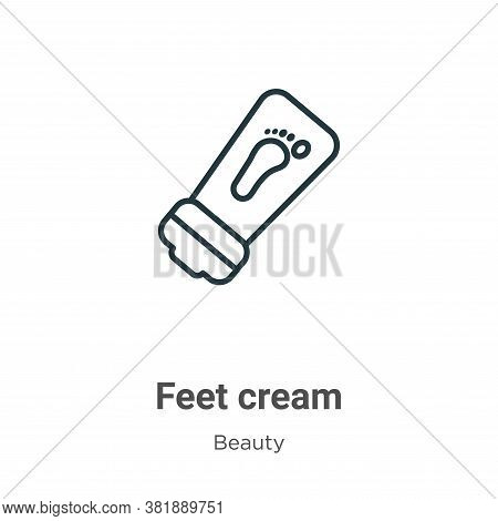 Feet cream icon isolated on white background from beauty collection. Feet cream icon trendy and mode
