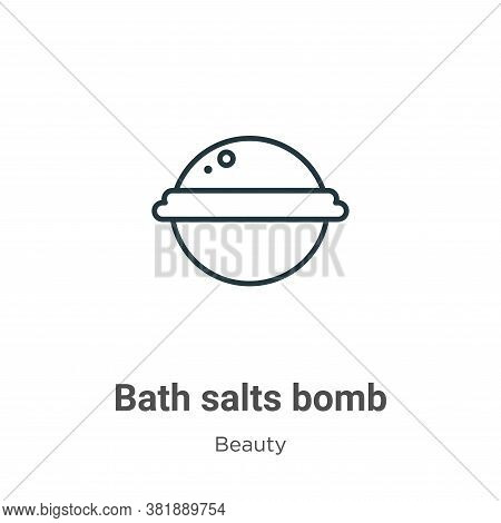 Bath salts bomb icon isolated on white background from beauty collection. Bath salts bomb icon trend