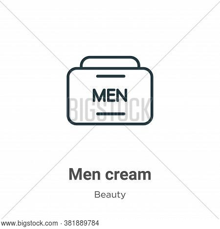 Men cream icon isolated on white background from beauty collection. Men cream icon trendy and modern