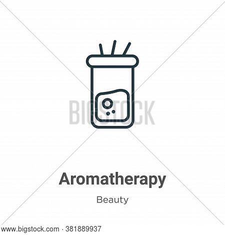 Aromatherapy icon isolated on white background from beauty collection. Aromatherapy icon trendy and