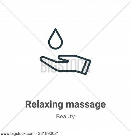 Relaxing massage icon isolated on white background from beauty collection. Relaxing massage icon tre