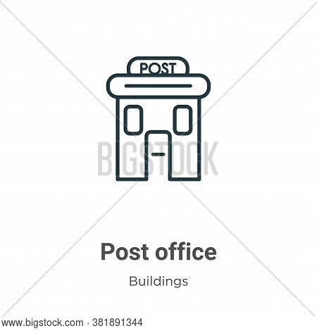 Post office icon isolated on white background from buildings collection. Post office icon trendy and