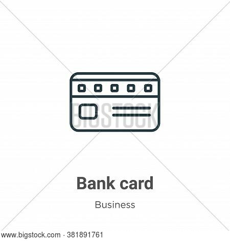Bank card icon isolated on white background from business collection. Bank card icon trendy and mode