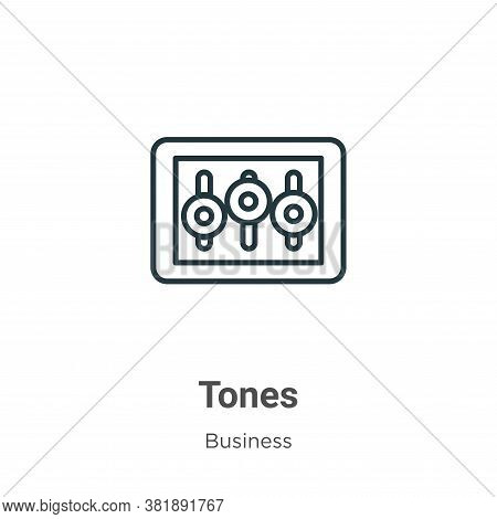 Tones icon isolated on white background from business collection. Tones icon trendy and modern Tones