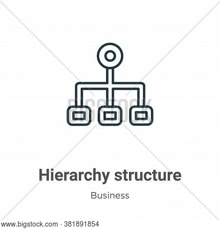 Hierarchy structure icon isolated on white background from business collection. Hierarchy structure