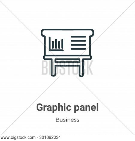 Graphic panel icon isolated on white background from business collection. Graphic panel icon trendy