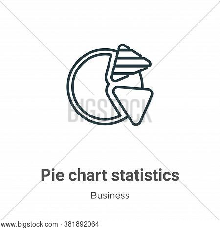 Pie chart statistics icon isolated on white background from business collection. Pie chart statistic