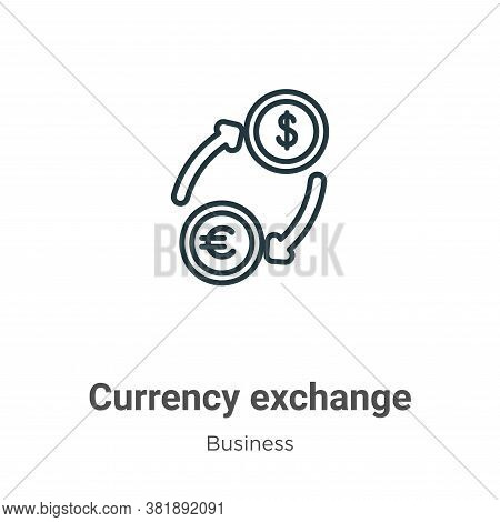 Currency exchange icon isolated on white background from business collection. Currency exchange icon