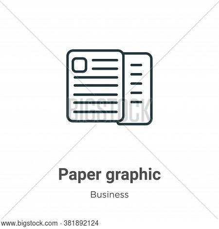 Paper graphic icon isolated on white background from business collection. Paper graphic icon trendy