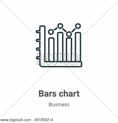 Bars chart icon isolated on white background from business collection. Bars chart icon trendy and mo