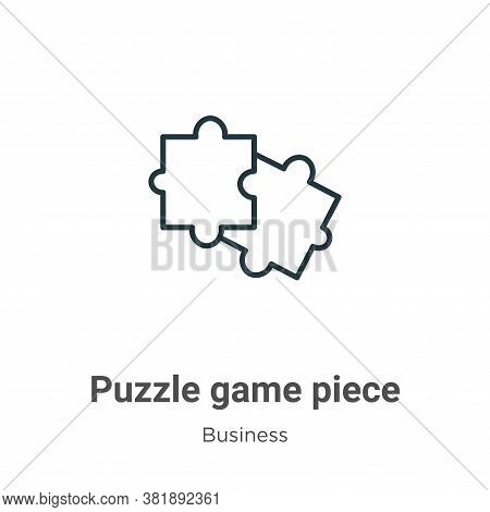 Puzzle game piece icon isolated on white background from business collection. Puzzle game piece icon