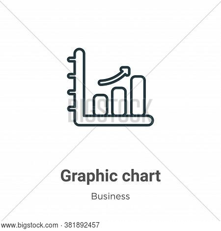 Graphic chart icon isolated on white background from business collection. Graphic chart icon trendy