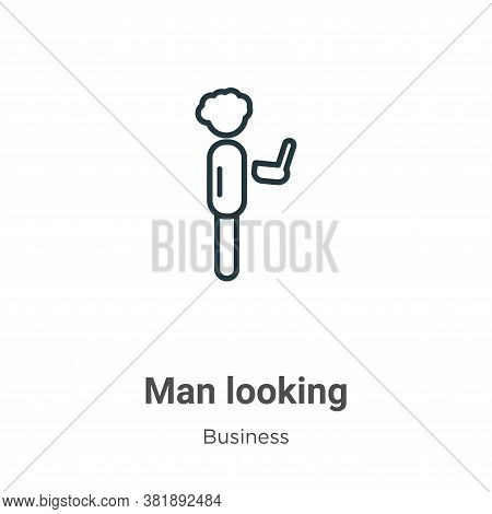 Man looking icon isolated on white background from business collection. Man looking icon trendy and