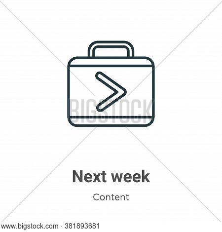 Next week icon isolated on white background from content collection. Next week icon trendy and moder