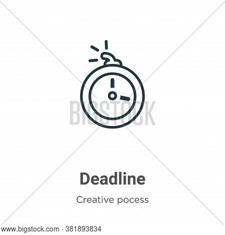 Deadline icon isolated on white background from creative pocess collection. Deadline icon trendy and